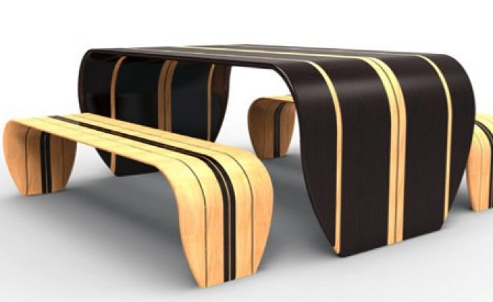 Surf-Ace Table and Benches